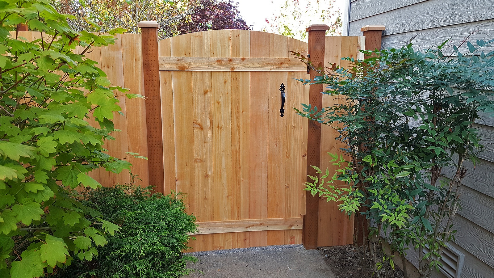 Cedar Gate Before Solid Stain